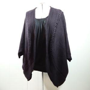 Lane Bryant dark purple open front cardigan 22/24
